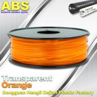 Quality ABS Desktop 3D Printer Plastic Filament Materials Used In 3D Printing Trans Orange for sale