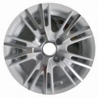 Quality Car Alloy Wheel of Aftermarket, with White Polish, Measuring 13x5.5/14x6 Inches for sale