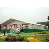 China 3-50 Clear Span Tents , Big Canopy Party Wedding Marquee Aluminum Tent With Colorful Linings on sale