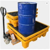 Quality Poly Drum Spill Containment Pallets For 200L Oil Tank , 4 drum spill containment plastic pallets for sale