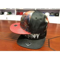 Quality Customized colors special material embroidery logo flat brim snapback hats caps for sale