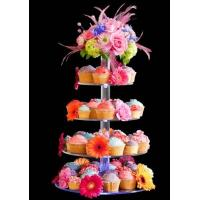 Quality 7-Tier Bakery clear acrylic display case , 5mm Cupcake Display Stand Rack for sale