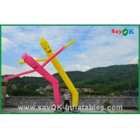 Quality 7m Rip Stop Nylon Advertising Inflatable Air Dancer 950W Air Pump With LED for sale