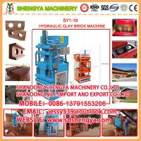 Quality SY1-10 Interlocking brick making machine for sale
