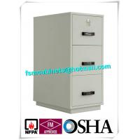 Quality Steel 3 Drawer Fireproof Safety Cabinet , Fire Resistant File Cabinet For Paper Documents for sale