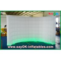 Quality 3m Lx2m H White LED Inflatable Wall 210D Oxford Cloth With Light And Blower for sale