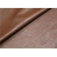 Quality 0.6 mm Brown Polyurethane Leather Fabric Twotone Effect Leather For Handbags Shoes for sale