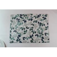 Quality Small Green Leaves Fashion Dining Table Mats Modern  Placemats For Home / Restaurant​ for sale