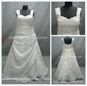 Quality Straps Aline Plus size bridal gown#LT2286 for sale