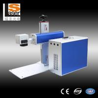 Quality Buttons Fiber Laser Marking Equipment For Metal , Plastic , Wood for sale