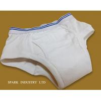Quality Reusable Adult Incontinence Underwear ,100% Pure Cotton Seamless Incontinence Briefs With Pad for sale