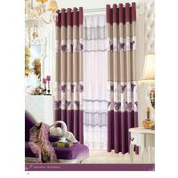 China Custom Polyester Lace Contemporary Ready Made Curtains Insulated Blackout Window Curtain on sale