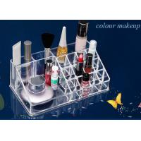 Quality Cosmetics Nail Polish Acrylic Display Stand Transparent 16 Compartments for sale