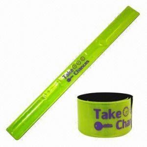 Quality Yellow Reflective Slap Bracelet, EN-471/13356 Passed, Measures 3 x 33cm for sale