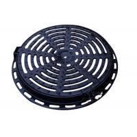 China 24 Ductile Round Cast Iron Drain Covers Sand Casting Apply To EN124 DIA on sale