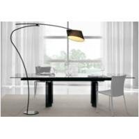 Quality Easy instal modern styles extend tempered glass topped dining tables for sale