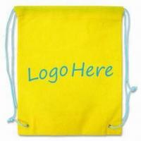 Quality Drawstring Bag, Green Product, Made of 80g/m² Nonwoven Material for sale