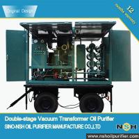 NSH Transformer Oil Filter Machine, China famous manufacturer,Mobile with trailer,oil purifier machine for sale