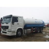 HOWO 20m3 Water Tanker Truck ZF8198 Driving Steering Front / Rear Spraying System