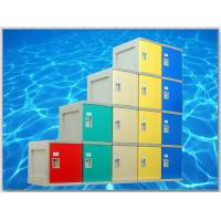 Quality 4 Tier Plastic Storage Lockers , Locker Room Lockers With Clover Lock / Door Blue for sale