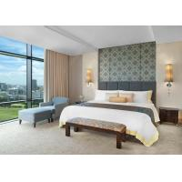 China Hotel Furniture High Gloss Wooden + MDF / Plywood King Size Bed on sale