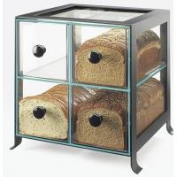 Quality Countertop 4 Drawers Acrylic Display Case , PMMA Bread Display Shelves for sale