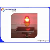Quality Self - Contained Solar Aviation Obstruction Light For High Pole / Tower Crane for sale