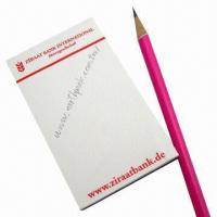 Quality Standard Magnetic Note Pads, Made of Paper and Rubber Magnet, Customized Colors are Welcome for sale