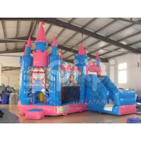 Quality Blue Inflatable Princess Castle For kids for sale