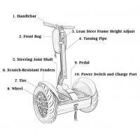 Quality Lithium Battery Segway Electric Scooter , 2 Wheel Self Balancing Electric Chariot for sale