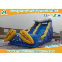 Quality CE Certificate Commercial Inflatable Slide With Small Pool / Pool Slide for sale