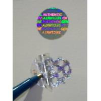 Quality Gold Warranty Void Labels / Security Hologram Stickers Solid 3d Image for sale