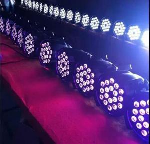 China Professional Led Mini Flat Par Light 24pc×18 Led Rgb Par Can Dj Stage Dmx Lighting on sale