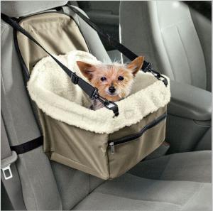 China Travel Pet Basket Pet Booster Seat Portable Sherpa Car Dog Booster Seat  Car car pet basket on sale