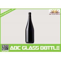 Quality wholesale 750ml black glass wine bottle with cork for sale