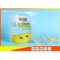 Quality Custom Printed Stand Up Pouches Transprant Beverage Packaging Bags For Juice / Milk for sale