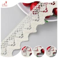 Eco - Friendly Apparel Cotton Lace Fabric Trim High Color Fastness for sale