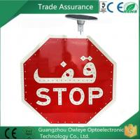 Quality High visual Stop sign led stop sign octagonal shape solar led traffic road sign for sale