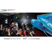 Quality 4D Movie Theater With Motion Chair Seat, Special Effect System, Flat / Arc Screen for sale