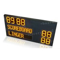 Quality P12mm Pixel Module Team Name LED Horsepolo Scoreboard with Digits in Yellow Color for sale