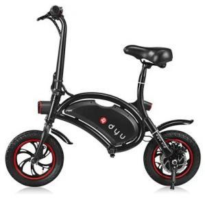Quality www.yolcart.com F - wheel DYU 12 inch 10Ah Folding Electric Bike ( Deluxe ) - BLACK for sale