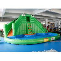 Quality PVC Tarpaulin Crocodile Commercial Inflatable Jumpers Slides For Event for sale