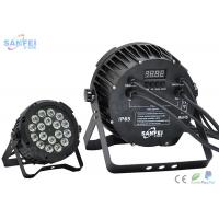 Quality Sound Control 18 * 10 Watt LED Par Stage Lights , RGBW 4 in 1 Led Par Can Lights Color Changing for sale