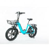 China Light Weight 20 Inch Folding Electric Bike , Collapsible E Bike With Basket on sale