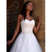 Quality NEW!!! Strapless wedding dress Ball gown Organza skirt Bridal gown #claudette for sale