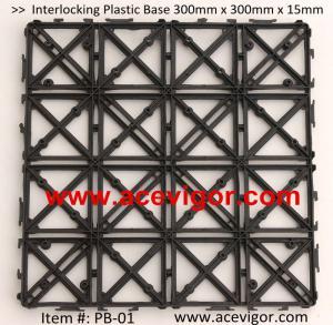 Quality PB-01 Interlocking Plastic Base, Plastic mats, Plastic tile for sale