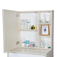 Buy Particle Board Bedroom Makeup Vanity Set White With Mirror / Hidden Cabinet at wholesale prices