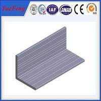 Quality High quality Aluminum angle with ISO9001:2008 certificate for sale