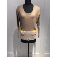 Quality Professional Crew Neck Knitted Pure Womens Cashmere Sweaters With Pocket for sale
