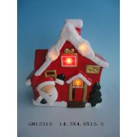 Quality Tabletop Lighted Porcelain Christmas Houses Battery Operated For Christmas Ornament for sale
